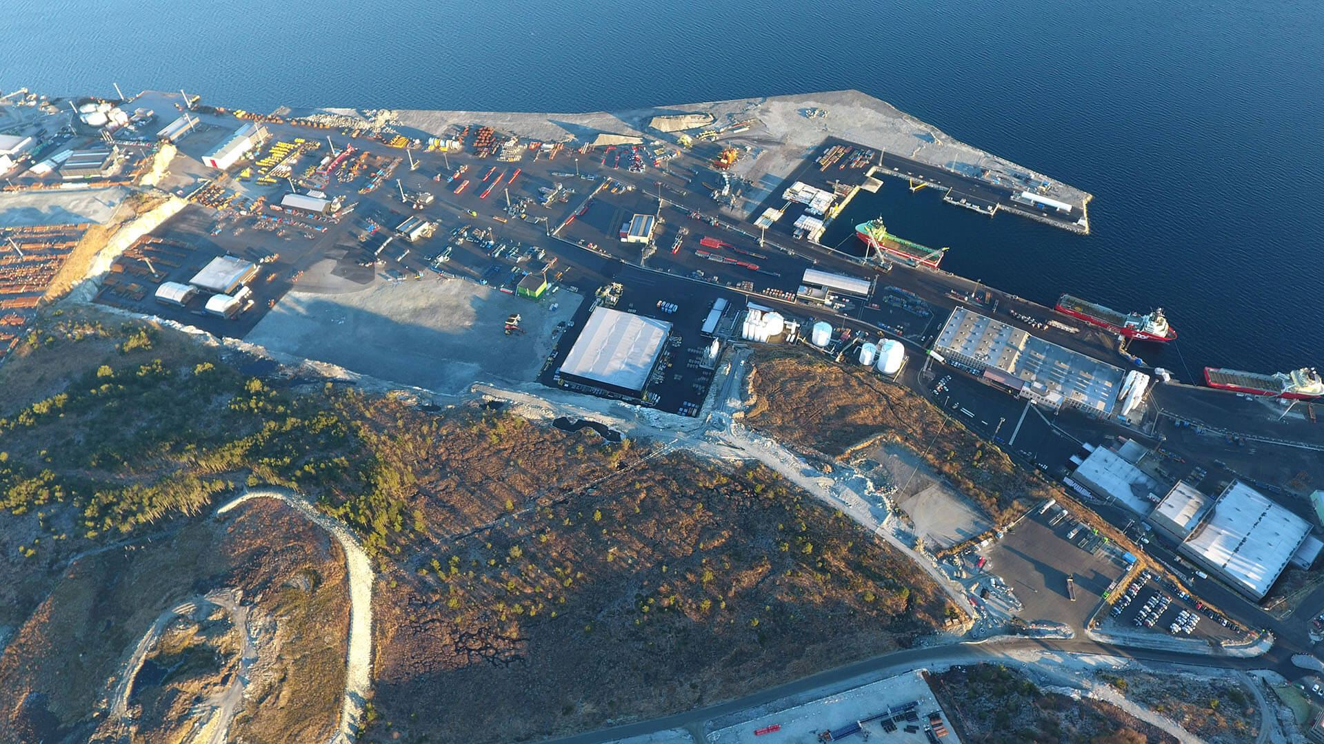 Mongstad supply base - Mongstad Industrial Park